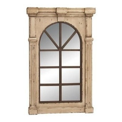 "Benzara - Wall Accent Mirrors- Wood Wall Mirror 48""H, 33""W - Wall Accent Mirrors- Wood Wall Mirror 48""H, 33""W . Some assembly may be required."