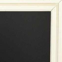 Beadboard Message Board, Rubbed White, Large - An oversize chalkboard is a versatile decorating piece for the holidays. Copy out your child's Christmas list to Santa or a quote from a favorite Christmas book. Or keep things simple and draw a little snowman.
