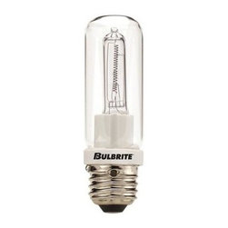 Bulbrite - Double Envelope Clear Halogen Light Bulbs - 1 - One pack of 10 Bulbs. 120 V E26 medium base JDD-type bulb. 360 degrees beam spread. Double glass envelope eliminates need for shielding. Ideal for commercial applications. Perfect for line voltage pendants, fans, ceiling fixture, wall mount, sconce, chandeliers, portables and track lighting applications. Provides UV protection. Dimmable. Average hours: 2000. Color temperature: 2700 K. Color rendering index: 100. Wattage: 250 watt. Lumens: 4200 CP. Maximum overall length: 4 in.