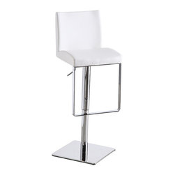J&M Furniture - White C171-3 Swivel Barstool - This C171-3 White Swivel Barstool by M Furniture instantly charms your decor with its creative, new aged style. Advantages of foam injection molding include absence of the sink mark on the part surface, better geometric accuracy, weight reduction, low back pressure, faster cycle time, better weld line strength, high stiffness-to-weight ratio, etc.