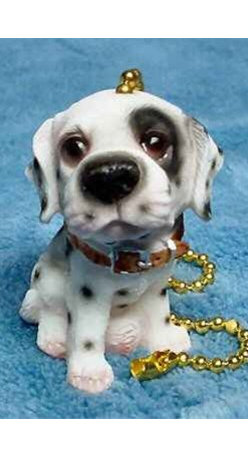 Dalmatian Dalmation Dog Ceiling Fan Pull - Dogs are always pulling at their chains, so let it work to your advantage with this puppy dog fan pull.