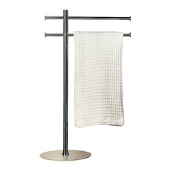 WS Bath Collections Kubic Class Free Standing Towel Bar Stand
