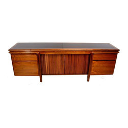 Walnut Executive Credenza by Monteverdi Young - Dimensions 84.0ʺW × 20.0ʺD × 28.5ʺH
