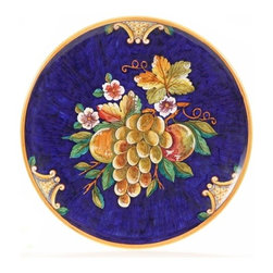 "Ceramic - Deruta Fruit 14"" Decorative Plate - Deruta Fruit 14"" Decorative Plate"