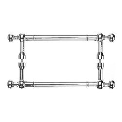 Top Knobs - Somerset Weston Back to Back Door Pull - Polished Chrome (TKM829-8 pair) - Somerset Weston Back to Back Door Pull - Polished Chrome