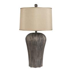 George Resin Table Lamp - Material: Resin