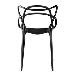 "Masters Chair - The Masters chair is a powerful tribute to the three chair-symbol, re-read and re-interpreted by the creative genius of Starck. The ""Series 7"" by Arne Jacobsen, the ""Tulip Armchair"" by Eero Saarinen and the"