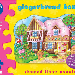 """The Original Toy Company - The Original Toy Company Kids Children Play Gingerbread House - Piece together this house of treats, then use the fun activity guide on the reverse of the box for added play value. Ages 3-6 years. Puzzle size- 23"""" x 17"""". 35 pieces. Made in England."""