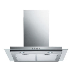 "Spagna Vetro - SPAGNA VETRO 30; SV198E-30 Wall-Mounted Stainless Steel Glass Range Hood - Mounting version - Wall Mounted 860 CFM centrifugal blower Three-speed mechanical, soft-touch push button control panel Two 35W halogen lights (Type: GU-10) Aluminum multi-layers micro-cell dishwasher-friendly grease filter(s) Machine crafted stainless steel (brushed finish) 6"" round duct vent exhaust and back draft damper Convertible to duct-free operation (requires optional charcoal filter) Telescopic flue accommodates 8ft to 9ft ceilings (optional flue extension available for up to 10ft ceiling) Tempered Glass Canopy For residential use only, one-year limited factory warranty"