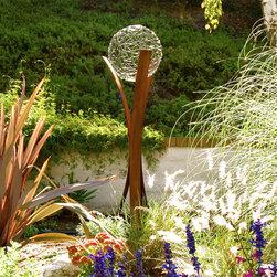 "TerraSculpture ""Tempest"" - Tempest sculpture, weathered/oxidized steel sculpture, original limited edition modern outdoor sculpture, custom sizes available, TerraSculpture.com"