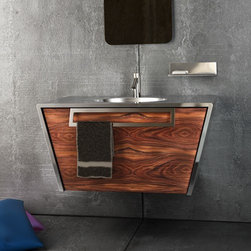 Componendo - Componendo | Quattordici Wall-Hung Single Vanity - Made in Italy by Componendo.A part of the Quattordici Collection. The striking yet compact design of the Quattordici Wall-Hung Single Vanity is perfect for luxury bathrooms of any size, especially those with limited space. Equipped with a deep drawer for ample storage capacity, and a built-in towel holder, this single vanity is the ultimate bath and organizational solution for any home. Choose from a variety of finishes and sink options to create the perfect fit for your home. Product Features: