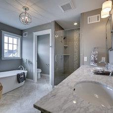 Contemporary Bathroom by Ridge Construction LLC