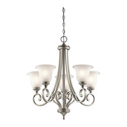 Kichler Lighting - Kichler Lighting KCH-43156-NI Monroe 5-Light Traditional Classic Chandelier - Kichler Lighting KCH-43156-NI Monroe 5-Light Traditional Classic Chandelier