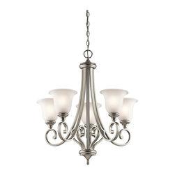 Kichler Lighting - Kichler Lighting KCH-43156-NI Monroe 5-Light Traditional Classic Chandelier - Kichler Lighting KCH-43156-NI Monroe 5-Light Traditional Classic Chandelier