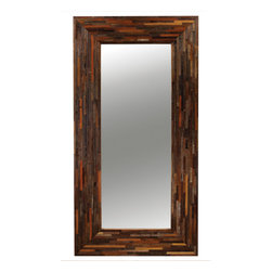 Marco Polo Imports - Parker Mirror - Crafted by hand from sustainably harvested and reclaimed Walnut wood, this timelessly elegant mirror juxtaposes warm patinas with clean lines.