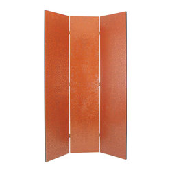 Wayborn - Wayborn Red Yuenchai Room Divider in China Red - Wayborn - Room Dividers - 2376 - Wayborn coromandel screen start with a cedar plywood frame covered in a cheesecloth material. Then layer after layer of plaster is applied; each layer must dry before another layer can be applied. After all the plaster has been applied several coats of lacquer is put over the entire surface. The design is drawn onto life-sized paper and carefully traced on to the panels. The craftsman then hand carves the design into the screen through the lacquer into the plaster. Once the screen is done it is painted with water based paint or silver/gold leaf is applied and sealed with a clear lacquer coat.