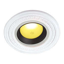 Renovators Supply - Spot Light Trim Urethane Recess Light Trim 6.5 ID x 10 1/8 OD - Recessed Lighting Trim: Made of virtually indestructible  high-density urethane our spotlight rings are cast from  steel molds guaranteeing the highest quality on the market. High-precision steel molds provide a higher quality  pattern consistency, design clarity & overall strength & durability.  Lightweight they are  easily installed  with no special skills. Unlike plaster or wood urethane is resistant to  cracking, warping or peeling.   Factory-primed  our spotlight rings are ready for finishing & enhance any ceiling light fixture. 10 1/8 in. dia.