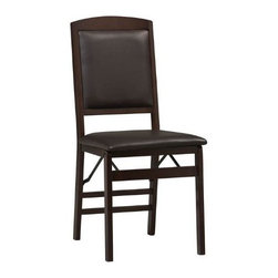 "Linon - Keira Pad Folding Chair - 33"" H x 17"" W x 19"" D"
