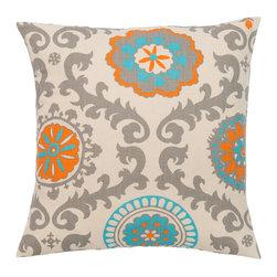 Look Here Jane, LLC - Rosa Mandarin Pillow Cover - PILLOW COVER