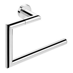 WS Bath Collections - 9.1 in. Towel Ring in Polished Chrome - Contemporary style. Premium quality. Avantgarde. Warranty: One year. Made from solid brass base. Polished chrome color. Made in Spain. No assembly required. 9.1 in. W x 2.8 in. D x 5.5 in. H (3 lbs.)Kubic cool the very well known brand name for premium and highend bathroom furnishings. Unique and fine bath complements and accessories of various designs and materials
