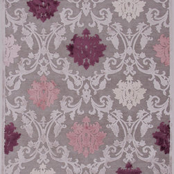 Jaipur Rugs - Transitional Floral Pattern Pink /Purple Viscose/Chenille Rug - FB26, 9x12 - Every design tells a story with the Fables Collection. This broad range, crafted in machine-tufted polyester & ultra-soft chenille, brings any space to life with its fashion-forward color palettes. With options suited to many styles and aesthetics, Fables brings together a diverse collection of patterns ranging from sophisticated transitional to boldly scaled contemporary.