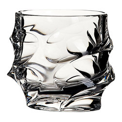 Bohemia Jihlava - Calypso Crystal Tumbler - This chic crystal tumbler is perfect for refined sipping. Hand-sculpted by Eastern European craftsmen, this statement piece will make each sip you take more enjoyable.
