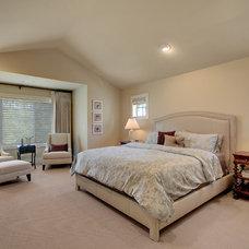 Transitional Bedroom by John F Buchan Homes