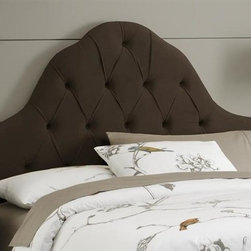 Skyline Furniture - High Arc Tufted Headboard w Foam Padding in V - Choose Size: California KingAdjustable legs. Plush foam padding. Attaches to standard bed frames. Made from 100% polyester. Made in the USA. Minimal assembly required. Twin: 41 in. L x 4 in. W x 58 in. H (24 lbs.). Queen: 62 in. L x 4 in. W x 58 in. H (33 lbs.). King: 78 in. L x 4 in. W x 58 in. H (41 lbs.). California king: 74 in. L x 4 in. W x 58 in. H (36 lbs.)Velvet high arc tufted headboard