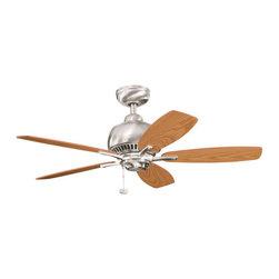 "Kichler - Kichler 300123BSS 42"" Indoor Ceiling Fan with 5 Blades - Includes 4"" Downrod - Kichler 300123 Richland Ceiling Fan"