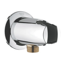 Grohe - Grohe 28484000 Wall Union With Hand Shower Holder In Starlight Chrome - Grohe 28484000 from the Movario Faucet Collection is a versitile with the functions of both a hand shower and side shower. The Grohe 28484000 is a Wall Union with Hand Shower Holder With a dazzling and highly reflective Chrome finish.