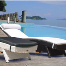 Contemporary Outdoor Chaise Lounges by Bellacor