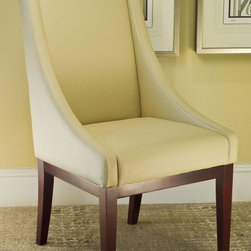Safavieh - Safavieh Soho Creme Leather Arm Chair - This chic leather arm chair will let you or a guest sit in style. It is both attractive and easy to clean with its coated bi-cast leather. It has a sturdy cherry-finished beech wood frame and legs and comes fully assembled for your convenience.