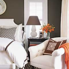 Graphic Pattern Guest Bedroom - MyHomeIdeas.com