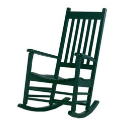 International Concepts Solid Wood Porch Rocker - Savor your summer with the International Concepts Solid Wood Porch Rocker. Crafted from durable wood material this handsome rocker is constructed with timeless style and modern comfort. The open-slat design is reminiscent of Maine and carefree summers on the beach mixed with the slow-paced rocking of a Carolina porch. The long backrest lets you lean back into the rockers for a chair you could spend your whole day in. Choose from a variety of colors or finishes for the table that best complements your home patio deck or garden. About International Concepts: Founded in 1982 Whitewood Industries Inc. is a manufacturer and distributor of high-quality real wood furniture. From ready-to-finish pieces to the John Thomas Furniture line of full-sized dining groups created in partnership with well-known designer Carol Wheeless Whitewood is truly where beautiful furniture begins. Each piece is suitably casual for everyday living but handsome enough for special occasions. Based in Thomasville N.C. Whitewood's furniture is proudly made in the USA.