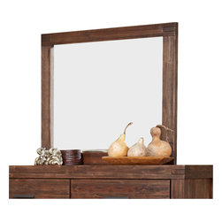 Modus Furniture - Modus Furniture Meadow Solid Wood Rectangular Mirror in Brick Brown - Modus Furniture - Mirrors - 3F4183