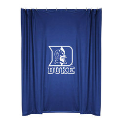 Sports Coverage - NCAA Duke Blue Devils College Bathroom Accent Shower Curtain - Features: