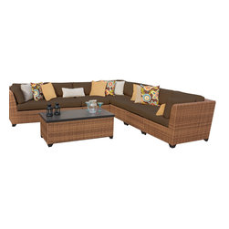 TKC - Tuscan 8 Piece Outdoor Wicker Patio Furniture Set 08a 2 for 1 Cover Set - Features: