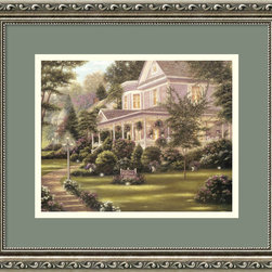 Amanti Art - Des Fosses Antiques Framed Print by Betsy Brown - Imagine — it's twilight, you're coming home to your beautiful plantation home to relax with a glass of wine while enjoying the sunset from your expansive porch. You wave to neighbors taking their nightly walk with their exuberant dog and enjoy the warm breeze of the last days of summer. Pretty nice, right? That's exactly where you'll be every time you glance at this stately image upon your wall. Custom framed and ready to hang, this print is a nothing less than a realized dream.