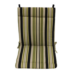 Blazing Needles - Blazing Needles Stripe/ Floral Outdoor Seat/Back Chair/Rocker Cushion - Add a touch of comfort and style to your outdoor home furnishings with this chair/rocker cushion with ties. This seat/back cushion features five beautiful variations that ensure the utmost in quality and durability.