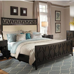 Samuel Lawrence - Aura Eastern King Bed in Chocolate Ash - 8554-270 - Aura Collection Eastern King Bed