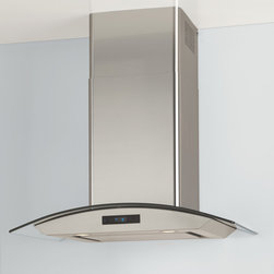 """30"""" Cesena Series Stainless Steel Wall-Mount Range Hood - 900 CFM - With sleek, straight lines and a simply curving hood, the 30"""" Cesena Series Stainless Steel Wall-Mount Range Hood lends a contemporary air to your kitchen."""