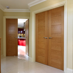 Flush Doors - These solid core doors are graciously laminated with the finest elements from Italy. They beautifully display  a nice finish color and texture from our glamorous collection. We have many designs to complete your modern space. All our doors are accessorized with stainless steel Italian hardware: concealed hinges, magnetic locks, and entry sets to keep your home safe.