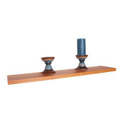 Portland 48-inch Wood Wall Shelf
