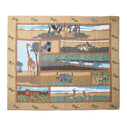 Patch Quilts - Safari Quilt Queen 85 x 95 - - Intricately appliqued and beautifully hand quilted.Bedding ensemble from Patch Magic  - The Name for the finest quality quilts and accessories  - Machine washable.Line or Flat dry only Patch Quilts - QQSAFA