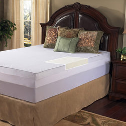 Grande Hotel Collection - Grande Hotel Collection 3-inch Memory Foam Mattress Topper with Egyptian Cotton - Get a restful nights sleep on this comfortable memory foam mattress topper. The foam conforms to your body,giving you the support you needs,and the included 300-thread-count Egyptian cotton mattress cover adds to the toppers comfort.