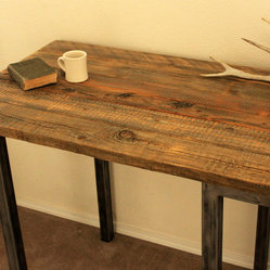 Reclaimed Wood Bar Pub Table