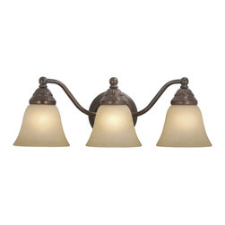 Vaxcel - Standford 3 Light Vanity - Vaxcel VL35123RBZ Standford Royal Bronze 3 Light Vanity