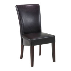 Armen Living - Armen Living Montecito Bicast Leather Side Chair in Black - Armen Living - Dining Chairs - LC3106SIBCBR - Full leather contemporary high back side chair. Plenty of padding and California Fire Retardent Rated. Armen Living is the quintessential modern-day furniture designer and manufacturer. With flexibility and speed to market Armen Living exceeds the customers expectations at every level of interaction. Armen Living not only delivers sensational products of exceptional quality but also offers extraordinarily powerful reliability and capability only limited by the imagination. Our client relationships are fully supported and sustained by a stellar name legendary history and enduring reputation. The groundbreaking new Armen Living line represents a refreshingly innovative creative collaboration with top designers in the home furnishings industry. The result is a uniquely modern collection gorgeously enhanced by sophisticated retro aesthetics. Armen Living celebrates bold individuality vibrant youthfulness sensual refinement and expert craftsmanship at fiscally sensible price points. Each piece conveys pleasure and exudes self expression while resonating with the contemporary chic lifestyle.