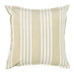"""Tan White Stripe 18"""" x 18"""" Pillow  Set of 2 - *18"""" x 18"""" Pillow with Hidden Zipper"""