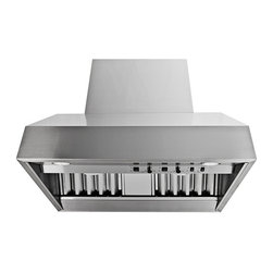 Proline - Proline ProV Professional Wall Mount/Under Cabinet Range Hood, 54 - ProV Professional Wall Mount/Under Cabinet Range Hood Full Variable Speed, Heat Lamps, Baffle Filters and Energy Efficient LED Lights, available with Local, In-line or Roof Mount Blower options. The ProLine ProV models are made to go head to head with Viking, Wolf, Thermador or any other brand and win hands down in side by side comparison for value, application, flexibility and performance. We guarantee you will not be disappointed! 100% BEAUTIFUL STAINLESS STEEL, (INCLUDING THE TOP AND BACK) EASY TO INSTALL AND MAINTAIN, AND THEY CAN BE USED WITH ANY VARIABLE SPEED, UL LISTED REMOTE BLOWER! BEAUTIFUL AND FUNCTIONAL THESE HOODS ARE DESIGNED FOR INTERIOR OR EXTERIOR USE! Made for the Professional the ProV line of wall hoods and inserts are the latest in our line of professional quality range hoods at reasonable prices from ProLine.